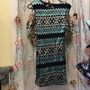 Beautiful blue tribal dress!